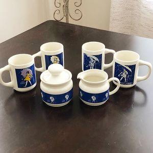 Vintage Morton Salt Coffee/Tea Set Cream Sugar Mug